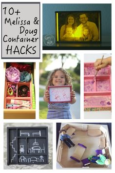 Reuse and repurpose all of your wooden Melissa and Doug toy containers.