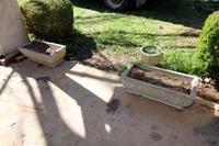 3 Concrete Planters