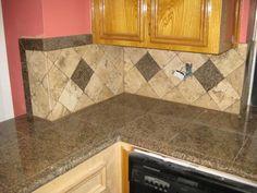 Nice kitchen counter & tile
