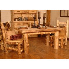 The Summit Peak Dining Table Showcases The Natural Rustic Beauty Of Aspen  Logs Sustainably Attained From The Wasatch And Uinta Mountains Of Utah.