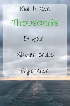 How to find the best price on your Alaskan cruise as well as how to fly to and from Alaska for free!