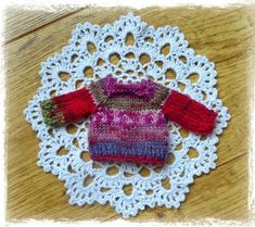 Yellow, Pink and Sparkly: Mini Sock Yarn Sweaters