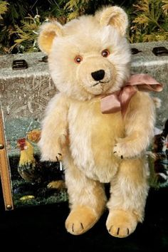Antique-Vintage-Large-15inch-Chiltern-Ting-A-Ling-Teddy-Bear-Circa-1950s