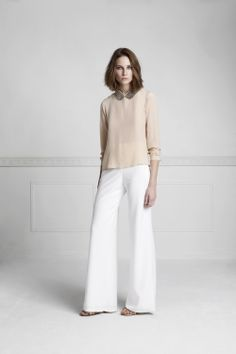 Spring-Summer 2014, Mirabelle blouse, Preston trousers, Medith collar, Anna Lea sandals, www.annefontaine.com #annefontaine #shirt #fashion