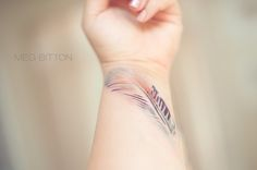 Breathtaking tattoo of Watetcolor inspired tattoo