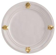 Acanthus Dessert/Salad Plate, Juliska - stoneware & 24-k gold - $47.00 ea.