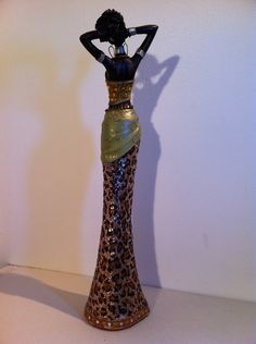 Estatua de la mujer africana Kenia Tribal arte muñeca figura