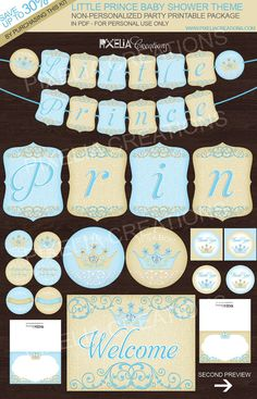 Hey, I found this really awesome Etsy listing at https://www.etsy.com/listing/166688462/little-prince-baby-shower-printable