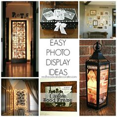 {simple} DIY Light Photo Frame | Bedroom Makeover for Teen Part 2 - Redhead Can Decorate