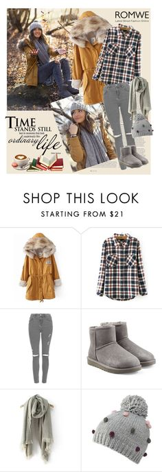 """""""Romwe 2/VI"""" by merima-p ❤ liked on Polyvore featuring ASOS, Topshop, UGG Australia and Mantaray"""