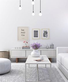 White living room visualization | My Paradissi © Eleni Psyllaki