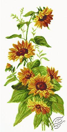 Sunflowers I - Cross Stitch Kits by RTO - M080