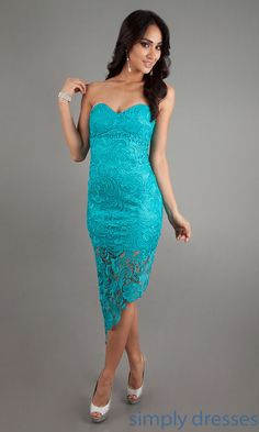 Shop Simply Dresses for cocktail dresses. Choose a strapless lace dress for homecoming and holiday dances, wedding receptions, gala events.