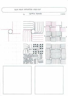 Zentangle Patterns Step By Step | Zentangle Tutorials | Pinterest