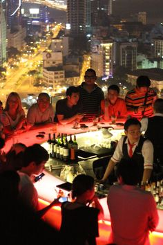 Chill SkyBar, Vietnam: An 'island' sky bar that lights up the night sky above Saigon. From its 26th floor vantage, it mixes chic nightlife and high altitude with excellent drinks.