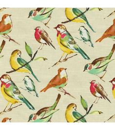 Home Decor  Print Fabric- Richloom Studio Lisette Meadow.  This will be the new living room.