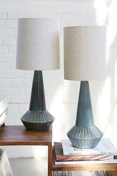 Laurel Canyon Ceramic Lamp - Urban Outfitters 20 inches tall, blue glaze avail, $98