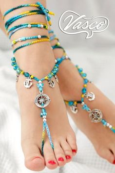 Nautical Barefoot Sandal. Gypsy Shoes. Barefoot sandals - pinned by pin4etsy.com