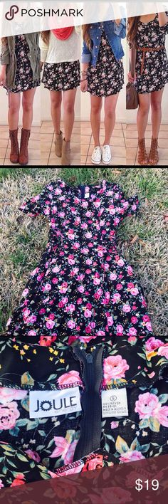Flowery dress Cute midi dress w/ criss cross detailing on the sidecasual dress That can be used for school or work (NOTE: first photo are modeled ideas! ONLY) Dresses Midi
