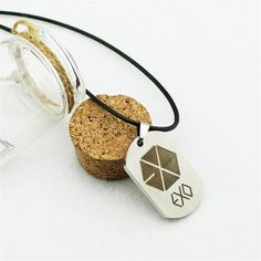 EXO EXO-K EXO-M MAMA Album Official Logo Trendy Titanium Necklace #EXO #EXOK #EXOM #MAMA #Album #Official #Logo #Trendy #Titanium #Necklace #KPOP #KIDOLSTUFF
