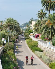 Bicycling in San Remo, Italy