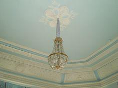 Ancien Hôtel Particulier du Ministre de la Guerre - 4 Rue Sadoya - Saint Petersbourg - Construit de 1872 à 1874 par l'architecte Rudolf Bogdanovich Bernhard - Aujourd'hui Hôtel Saint Michel - Le Salon Bleu.