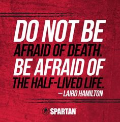 The Spartan life is not a half-lived life! Great Quotes, Quotes To Live By, Me Quotes, Motivational Quotes, Inspirational Quotes, Daily Quotes, Spartan Quotes, Spartan Life, Gym Quote