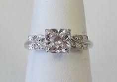Hey, I found this really awesome Etsy listing at http://www.etsy.com/listing/168697594/vintage-antique-14k-white-gold-30ct