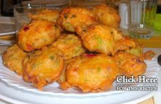 Serve these amazing Portuguese cod fritters (pataniscas de bacalhau) with rice and a salad. Cod Recipes, Garlic Recipes, Fish Recipes, Seafood Recipes, Appetizer Recipes, Vegetarian Recipes, Cooking Recipes, Appetizers, Rice
