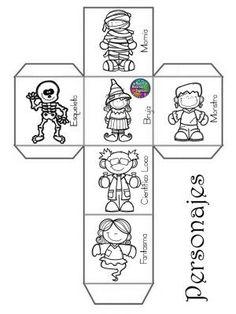 Story Cubes, Doodle People, October Crafts, Halloween Activities, Preschool Worksheets, Teaching Kids, Holiday Crafts, Happy Halloween, Halloween Decorations