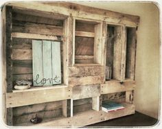 Pallet Jewelry Rack with Decorative Shelves by WorkmansPalette, $100.00