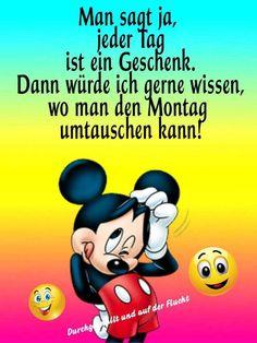 Walt Disney, Mickey Mouse, Humor, Greeting Cards, Cartoon, Animals, Buen Dia, Text Posts, Good Morning Monday Images