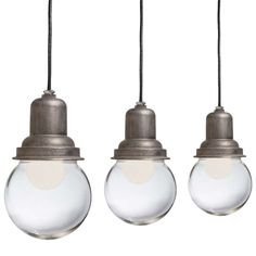 1stdibs.com | Large Glass Ball Industrial Light
