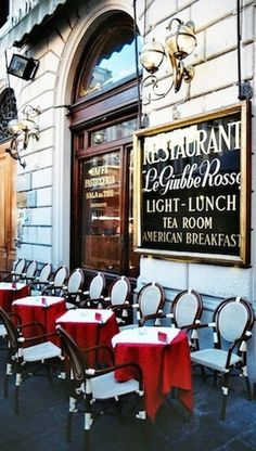 """Le Giubbe Rosse - Firenze , Italy - famous cafe in Florence,opened in 1897, favorite place of the poets and writers and a """"headquarter"""" of Italian futurism at the time."""