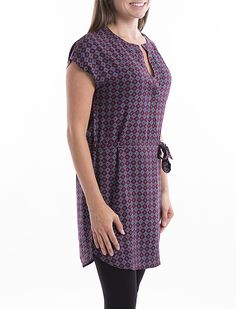 d7fe1abc5a279 Tunique à motifs avec ceinture à la taille - Mode Choc   Le grand magasin de  la mode