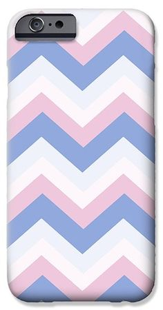 Blue Pink Chevron Pattern iPhone 6 Case by Christina Rollo.  Protect your iPhone 6 with an impact-resistant, slim-profile, hard-shell case.  The image is printed directly onto the case and wrapped around the edges for a beautiful presentation.  Simply snap the case onto your iPhone 6 for instant protection and direct access to all of the phones features!