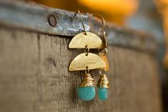 Sea Green Jade and Half Moon Earrings by RootsAndWingsJewelry, $40.00