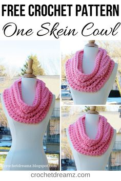 This one skein chunky crochet cowl free pattern will make a great addition to your wardrobe. The easy and quick tutorial shows you how to make this simple scarf with only one ball of Big Twist Chunky yarn. Try this beautiful cowl neckwarmer pattern today! One Skein Crochet, Crochet Neck Warmer, Quick Crochet, Crochet Shirt, Chunky Crochet, Chunky Yarn, Crochet Scarves, Free Crochet, Crochet Cowls