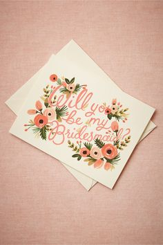 Pop the question to your bridesmaids with these party cards designed by Rifle Paper Co.