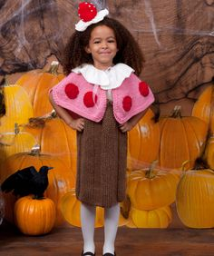 Cupcake Cutie Knit Halloween Costume from Red Heart yarn