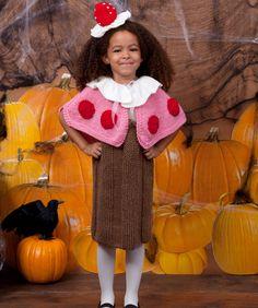 Cupcake Cutie Knit Halloween Costume from Red Heart yarn