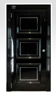 Feature glossy black door.  It needs Swarovski crystals on it to make it perfect!