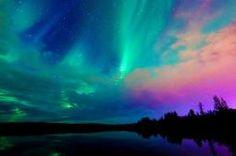 Paesaggi del Nord - Islanda del Sud, Aurora boreale, Laguna blu