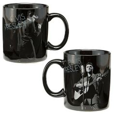 Vandor 47462 Elvis Presley Ceramic Mug, Wertheimer Autographed, Black/White, 12-Ounce by Vandor. $13.95. Perfect for the ultimate elvis fan. Great gift idea. Photo quality graphics. Microwave and dishwasher safe. Full color gift box included. Elvis Presley's immortal legacy was born from his unmistakable voice, charismatic showmanship, and revolutionary fusion of country, blues, gospel, and Rand B music. Virtually every rock star from the '50s onward is directly or indirectly i...