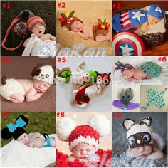 Find More Hats & Caps Information about Baby Photography Props Toddler Crochet Animal Costume Set Newborn Beanies with Cover Captain America Mickey Peacock SG044,High Quality beanie store,China beanie hats for men Suppliers, Cheap beanie men from Sally Baby & Kids Accessories Store on Aliexpress.com