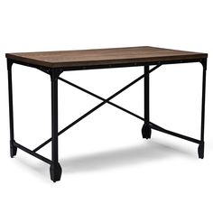 Baxton Studio Greyson Writing Desk - The no-fuss Baxton Studio Greyson Writing Desk may look minimalistic, but its rustic-industrial style offers loads of charm and lots of space for...