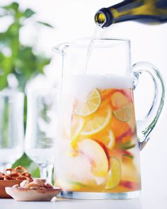 Cava Sangria—This Spanish punch is a blend of wine, spirits and fruit. This recipe uses sparkling wine, but we've included a classic red wine variation as well. When nectarines and peaches are in season, add them to the mix.
