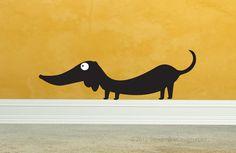 Dachshund Vinyl Wall Art by StreamlineDesign on Etsy, $12.95