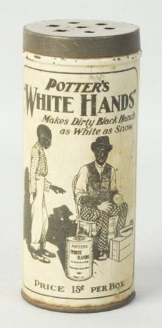 """Potter's White Hands Cleaner - """"Makes Dirty Black Hands As White As Snow"""""""