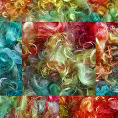 Rainbow dyed mohair locks by monique van Groningen. Wanna see more? check my page on facebook Monique's fiber art